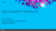 Application Compatibility in Windows 10