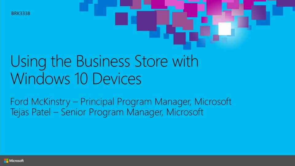 Show Low Ford >> Using the Business Store Portal with Windows 10 Devices | Microsoft Ignite 2015 | Channel 9