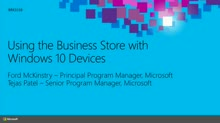 Using the Business Store Portal with Windows 10 Devices