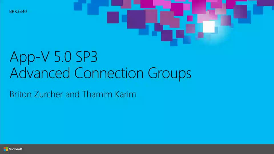 App-V 5.0 SP3: Advanced Connection Groups