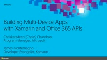 Building Office 365 Apps with Xamarin