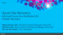 Azure Site Recovery: Microsoft Azure As a Destination for Disaster Recovery