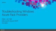 Troubleshooting Windows Azure Pack Providers