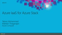 Azure IaaS for Azure Stack