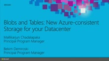 Blobs and Tables: New Azure-Consistent Storage for your Datacenter