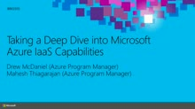 Taking a Deep Dive into Microsoft Azure IaaS Capabilities