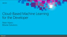 Cloud-Based Machine Learning for the Developer
