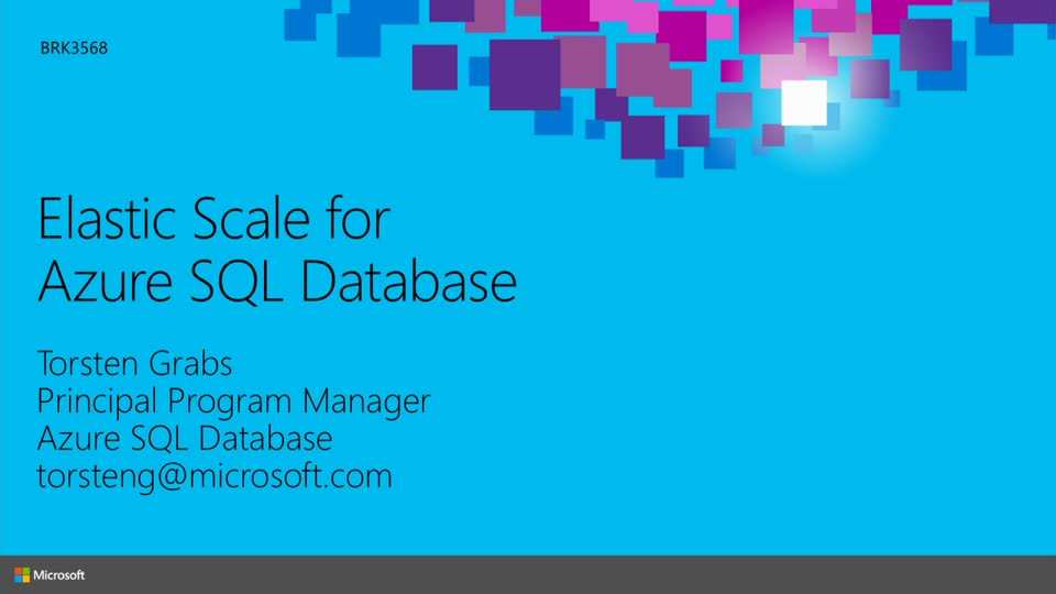 Elastic Scale for Microsoft Azure SQL Database