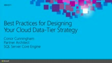 Best Practices for Designing Your Cloud-Based, Data-Tier Strategy