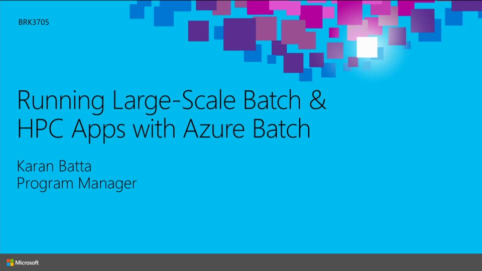 Running Large-Scale Batch and High Performance Computing Applications with Azure Batch