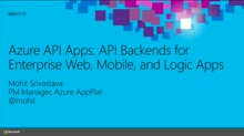 Azure API Apps: API Backends for Enterprise Web, Mobile, and Logic Apps