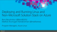 Deploying and Running Linux and Non Microsoft Solution Stack on Azure