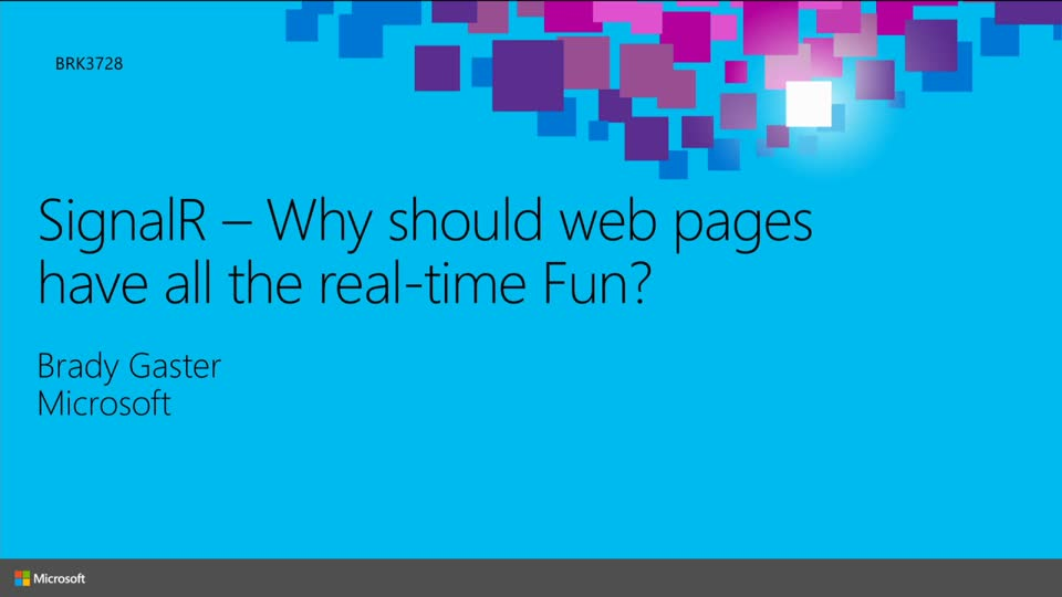SignalR: Why Should Web Pages Have All the Real-Time Fun