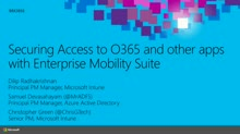 Securing Access to Office 365 and other apps with Enterprise Mobility Suite
