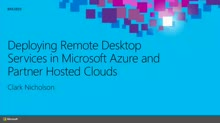 Deploying Remote Desktop Services (RDS) Roles in Microsoft Azure and Partner Hosted Clouds