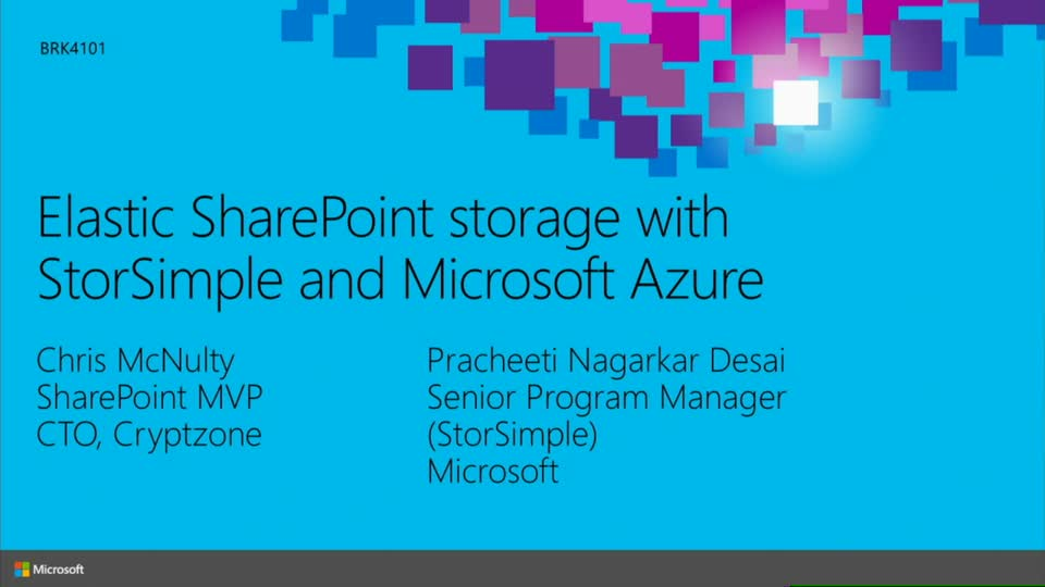 Elastic SharePoint Storage with StorSimple and Microsoft Azure