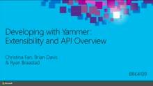 Developing with Yammer: Extensibility and API Overview