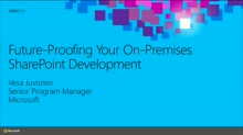 Future-Proofing Your On-Premises SharePoint Development
