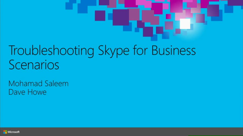 Troubleshooting Skype for Business Scenarios