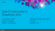 Search Extensibility in SharePoint 2013