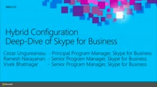 Hybrid Configuration Deep-Dive of Skype for Business