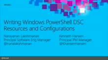 Writing Windows PowerShell DSC Resources and Configurations