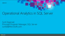 Operational Analytics in SQL Server
