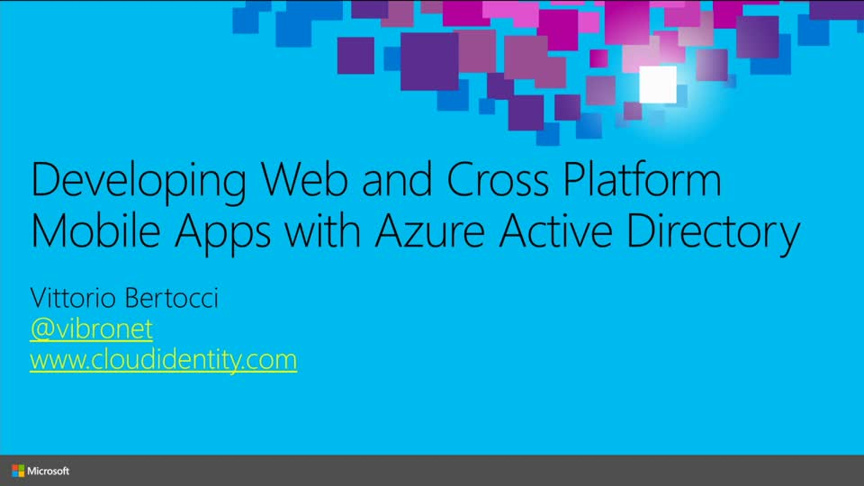 Developing Web and Cross Platform Mobile Apps with Azure Active Directory