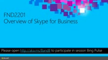 Overview of Skype for Business