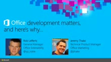 Office Development Matters, and Here's Why...