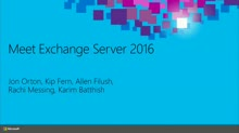 Meet Exchange Server 2016