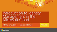 Introduction to Identity Management in the Microsoft Cloud
