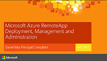 Microsoft Azure RemoteApp Deployment, Management and Administration
