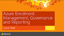 Azure enrolment: Management, Governance and Reporting