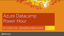 Azure Datacamp Power Hour
