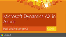 Dynamics AX in Azure