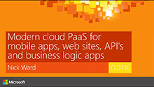 Modern cloud PaaS for mobile apps, web sites, API's and business logic apps