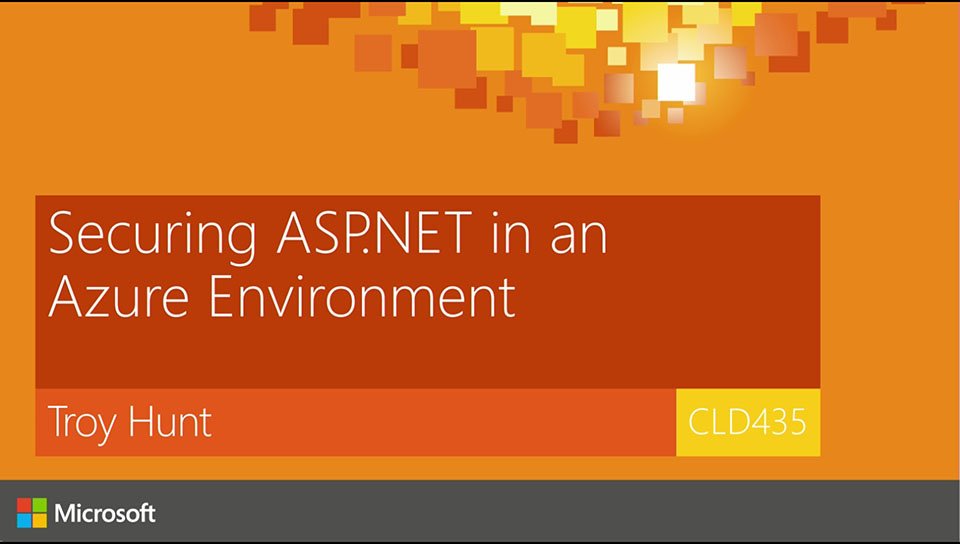 Securing ASP.NET in an Azure environment