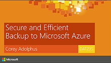 Secure and Efficient Back-up to Microsoft Azure