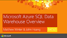 Microsoft Azure SQL Data Warehouse Overview