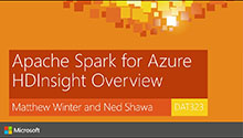Apache Spark for Azure HDInsight Overview