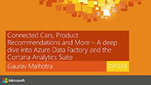 Connected Cars, Product Recommendations and More - A deep dive into Azure Data Factory and the Cortana Analytics Suite