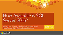 How Available is SQL Server 2016