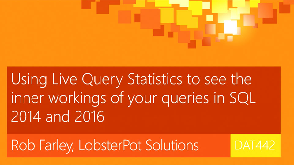 Using Live Query Statistics to see the inner workings of your queries in SQL 2014 and 2016