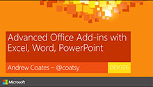 Advanced Office add-in Development with Excel, Word, PowerPoint