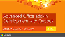 Advanced Office add-in Development with Outlook