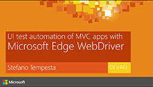 UI test automation of MVC apps with Microsoft Edge WebDriver