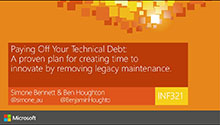 Paying Off Your Technical Debt: A proven plan for creating time to innovate by removing legacy maintenance.