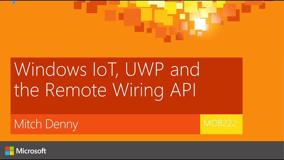 Windows IoT, UWP and the Remote Wiring API