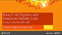 A day in the life with Enterprise Mobility Suite